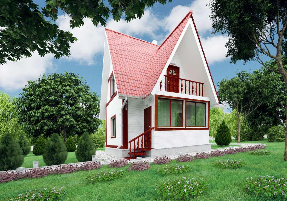 Двухэтажные дачные дома картинки